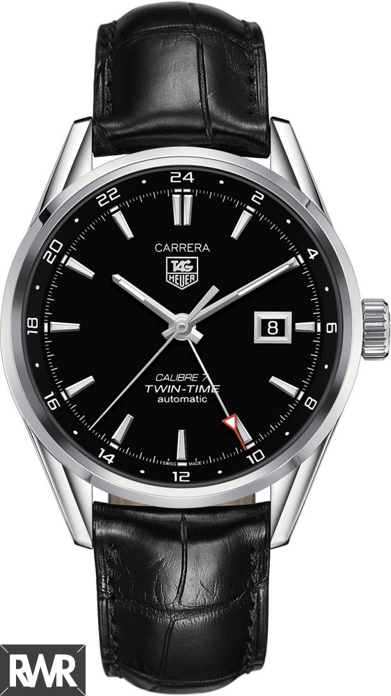 Replica TAG Heuer Carrera Calibre 7 Twin-Time Automatic 41 mm WAR2010.FC6266