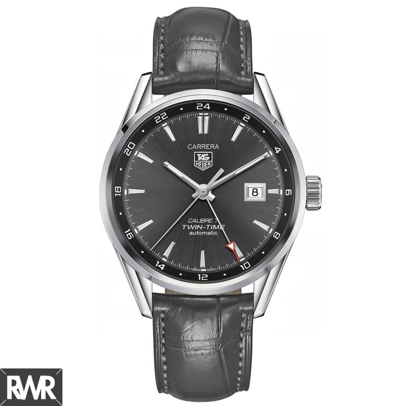 Replica TAG Heuer Carrera Calibre 7 Twin-Time Automatic 41 mm WAR2012.FC6326