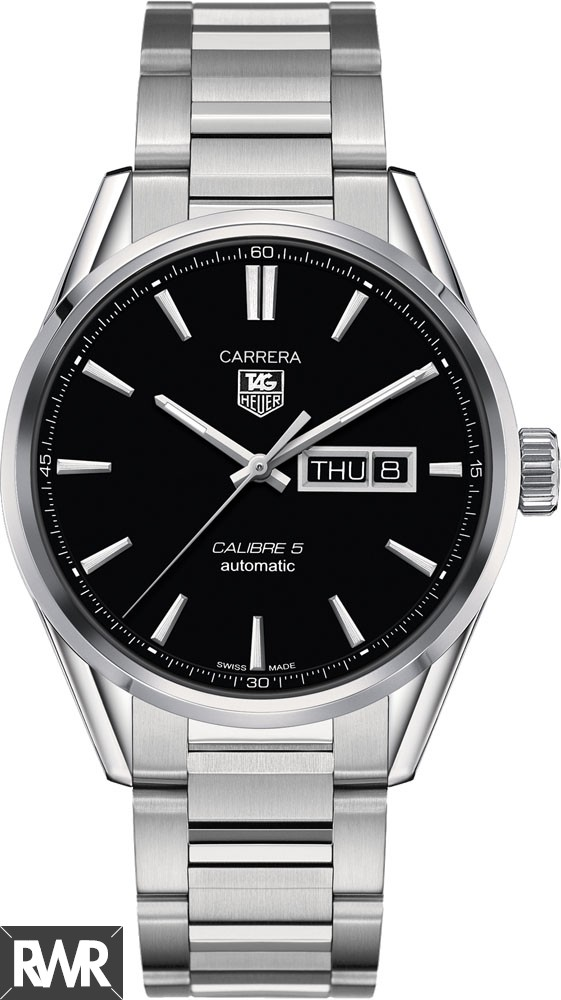 Replica TAG Heuer Carrera Calibre 5 Day-Date Automatic Watch 41 mm WAR201A.BA0723