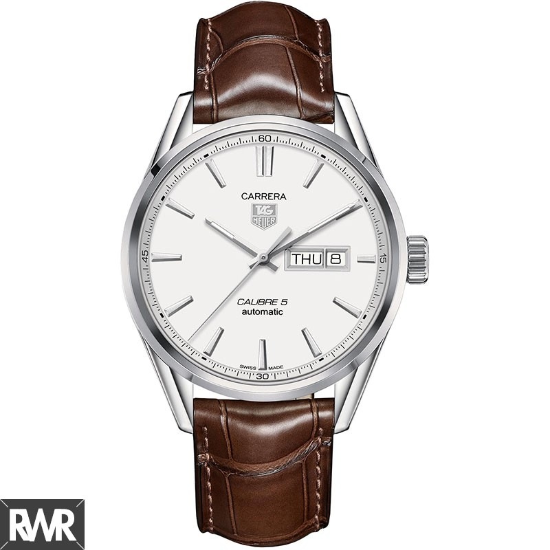 Replica TAG Heuer Carrera Calibre 5 Day-Date Automatic Watch 41 mm WAR201B.FC6291