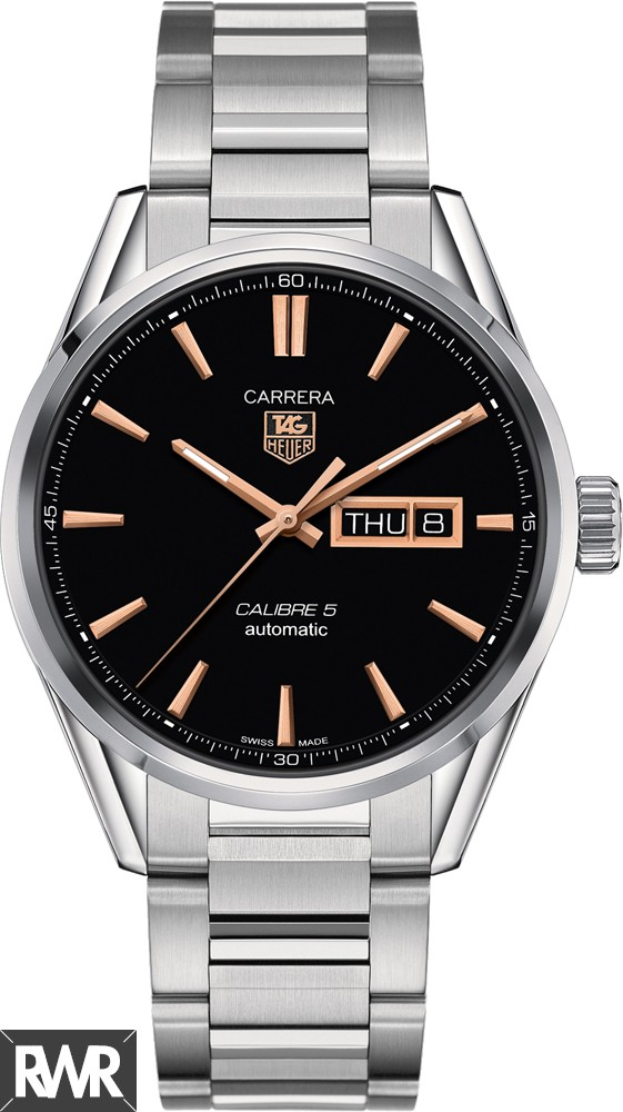Replica TAG Heuer Carrera Calibre 5 Day-Date Automatic Watch 41 mm WAR201C.BA0723