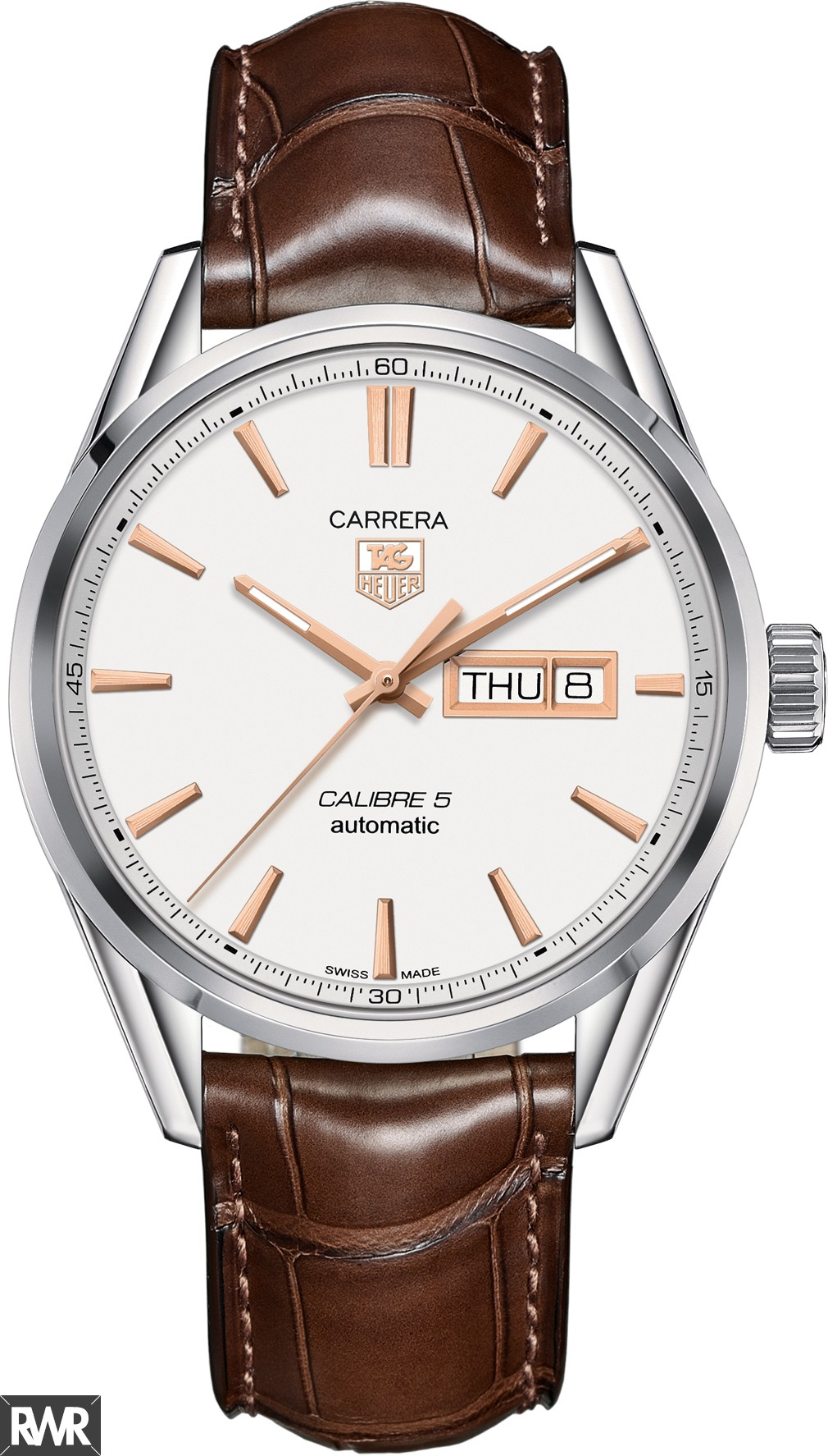 Replica TAG Heuer Carrera Calibre 5 Day-Date Automatic Watch 41 mm WAR201D.FC6291