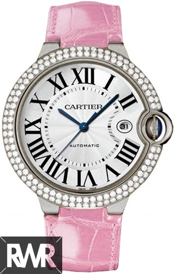 Replica Cartier Ballon Bleu Large Automatic White Gold & Diamond WE900951