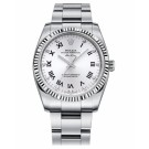 Rolex Air-King White Gold Fluted Bezel