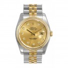 Rolex Datejust Champagne Diamond Dial Jubilee Bracelet Watch 116233