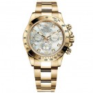 Rolex Daytona Mother of Pearl Diamond Dial Oyster Bracelet Mens Watch  Fake