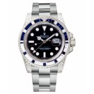 Replica Rolex GMT Master II White Gold Black Dial watch 116759 SA