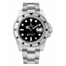 Replica Rolex GMT Master II White Gold Black Dial watch 116759 SANR
