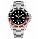 Replica Rolex GMT Master II White Gold Black Dial watch 116759 SARU