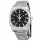Replica Rolex Air King Black Diamond Dial 18k White Gold Bezel Steel 114234BKRDO