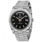 Replica Rolex Day-Date 40 Black Dial 18K White Gold President 228239BKSP