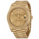 Replica Rolex Day-Date 40 Champagne Dial 18K Yellow Gold President 228238CRSP