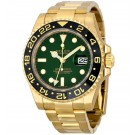 Replica Rolex GMT Master II Green Dial Oyster Bracelet 18k Yellow Gold 116718GSO