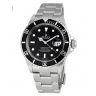 Replica Rolex Submariner Black Index Dial Oyster Bracelet Stainless Steel 16610-BKSO
