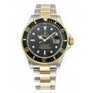 Replica Rolex Submariner Black Index Dial Oyster Bracelet Two Tone 16613BK