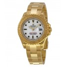 Replica Rolex Yacht-Master White 18kt Yellow Gold Ladies 169628WSO