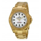 Replica Rolex Yacht Master White Dial 18K Yellow Gold Bracelet 168628