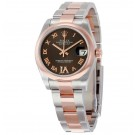 imitation Rolex Datejust Lady 31 Chocolate with Diamonds Dial Stainless Steel and Rose Gold 178241CHRDO