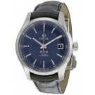 imitation Omega DeVille Blue Dial Black Leather 431.33.41.21.03.001