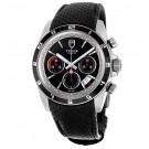 imitation Tudor Grantour Chronograph Automatic Black Dial Black Leather 20530N-BKMCPL