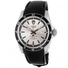 imitation Tudor Grantour Silver Dial Black Microperforated Leather 20500N-SVSBKMCPL