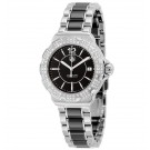 imitation Tag Heuer Formula 1 Black Diamond Dial Stainless Steel Black Ceramic Ladies WAH1217.BA0859