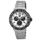 imitation Tag Heuer Formula 1 Chronograph White Dial Stainless Steel Men's CAU1111.BA0858