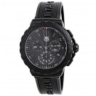 imitation Tag Heuer Formula 1 Black Dial Black Rubber Men's CAU1114.FT6024