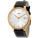 Rado Centrix White Dial Dark Brown Leather Quartz Men's Replica Watch R30554105