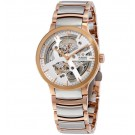 Rado Centrix Automatic Silver Skeleton Dial Two-tone Men's Replica Watch R30181103