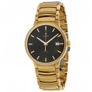 Rado Centrix Automatic Black Dial Yellow Gold-Plated Stainless Steel Men's Replica Watch R30279153