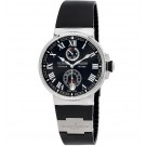 Ulysse Nardin Marine Chronometer Automatic Black Dial Black Rubber Men's Replica Watch 1183-126-3/42