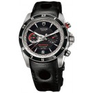 Replica Tudor Grantour Chrono Fly-Back Black Dial Black Leather Men's Watch