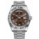 Replica Rolex Day-Date II President White Gold Fluted Bezel