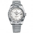 Replica Rolex Day-Date II President White Gold Fluted Bezel Watch