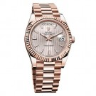 Replica Rolex Day-Date 40 Sundust Stripe Dial 18K Everose Gold Automatic Mens Watch