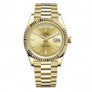 Replica Rolex Day-Date 40 Automatic Champagne Dial 18kt Yellow Gold