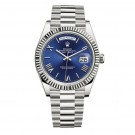 Replica Rolex Day-Date 40 Blue Dial 18K White Gold Automatic Watch