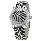 fake Chopard Happy Sport Zebra Special Edition In Steel With White Gold Diamond Bezel Watch