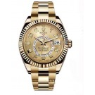 Replica Rolex Oyster Perpetual Sky-Dweller 42mm Yellow Gold 326938-72418