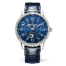 fake Jaeger-LeCoultre 3448480 Rendez-Vous Night & Day Medium Stainless Steel/Blue/Alligator