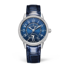 Jaeger-LeCoultre 3468480 Rendez-Vous Night & Day Small Stainless Steel/Diamond/Blue/Alligator fake