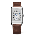 fake Jaeger-LeCoultre 3848422 Reverso Classic Large Duoface Small Seconds Stainless Steel/Silver/Fagliano