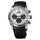 Replica Tudor Fastrider Chronograph Black Leather White Arabic 42000