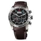 Replica Tudor Fastrider Chronograph Brown Leather Black Arabic 42000