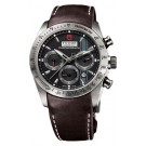 Replica Tudor Fastrider Chronograph Brown Leather Black Index 42000