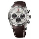 Replica Tudor Fastrider Chronograph Brown Leather Silver Inde 42000