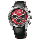 Replica Tudor Fastrider Ducati Red Dial Chronograph Black Leather 42000D