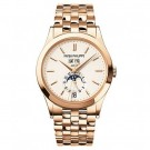 Cheap AAA Replica Patek Philippe Annual Calendar Silver Dial 18kt Rose Gold 5396/1R-010