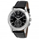 Cheap AAA Replica Patek Philippe Complications Black Dial Annual Calendar Platinum 5905P-010